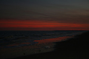 Intense Jekylly Island winter sunset.