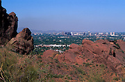 View of Phoenix from Camelback Mtn. Trail, Phoenix, Arizona..Subject photograph(s) are copyright Edward McCain. All rights are reserved except those specifically granted by Edward McCain in writing prior to publication...McCain Photography.211 S 4th Avenue.Tucson, AZ 85701-2103.(520) 623-1998.mobile: (520) 990-0999.fax: (520) 623-1190.http://www.mccainphoto.com.edward@mccainphoto.com.