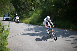 Katarzyna Niewiadoma (POL) of Rabo-Liv Cycling Team starts the final descent during the Giro Rosa 2016 - Stage 7. A 21.9 km individual time trial from Albisola to Varazze, Italy on July 8th 2016.
