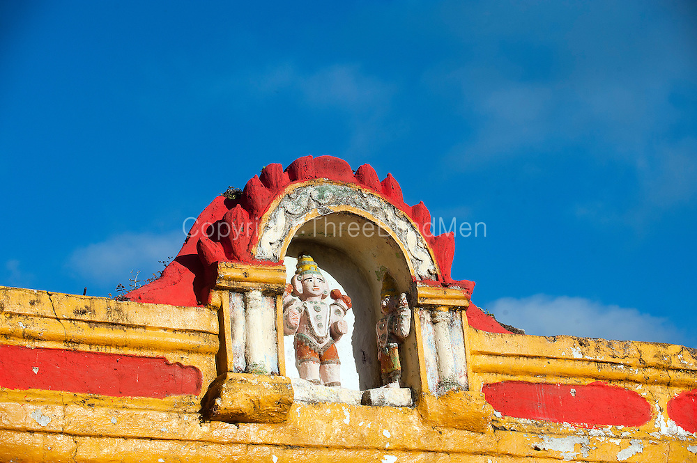 Mauritius. Hindu temple dedicated to Lord Murugan at village of Clemencia.