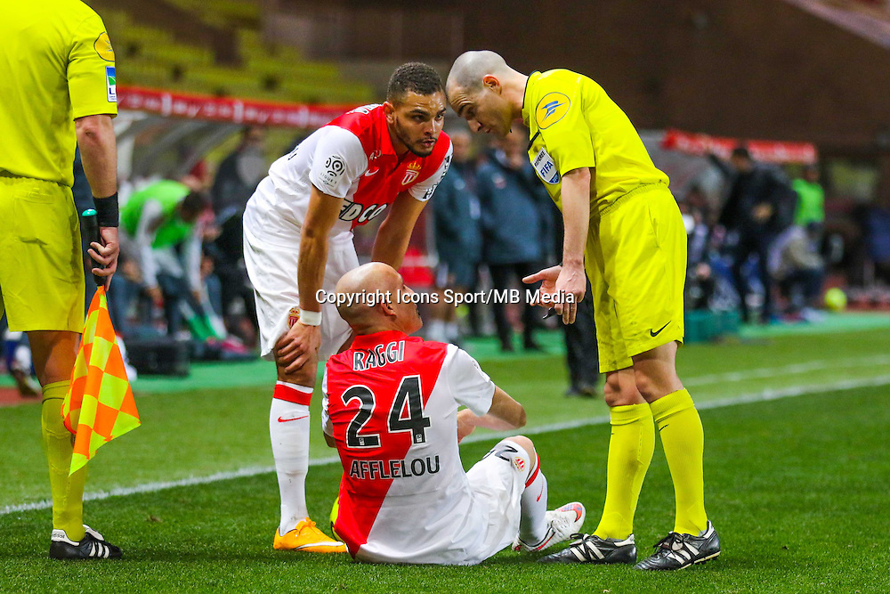 Andrea RAGGI / Layvin KURZAWA / Benoit MILLOT  - 01.02.2015 - Monaco / Lyon - 23eme journee de Ligue 1 -<br /> Photo : Serge Haouzi / Icon Sport
