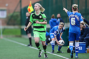 Forest Green's captain Amy Baker during the FA Women's Premier League match between Forest Green Rovers Ladies and Brighton Ladies at the Hartpury College, United Kingdom on 24 January 2016. Photo by Shane Healey.