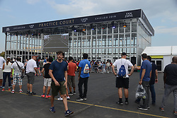 September 20, 2018 - Chicago, Illinois, United States - A view of the practice court in the fan zone at the 2018 Laver Cup tennis event in Chicago. (Credit Image: © Christopher Levy/ZUMA Wire)