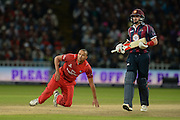 George Edwards and Josh Cobb during the NatWest T20 Blast final match between Northants Steelbacks and Lancashire Lightning at Edgbaston, Birmingham, United Kingdom on 29 August 2015. Photo by David Vokes.