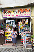 Small local shop in the historic town of Galle, Sri Lanka, Asia