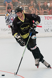 Ziga Pavlin of DPH Itaksport.com Kranj at semifinal match of IZS Masters 2011 inline hockey between HK Prevoje and DPH Itaksport.com Kranj, on June 4, 2011 in Sportni park, Horjul, Slovenia. (Photo by Matic Klansek Velej / Sportida)