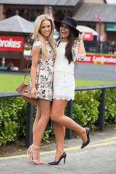 Repro Free: Punchestown 01/05/2014 Nicola Hughes and Jade Stone pictured at Day 3 of the Punchestown Racing Festival. Picture Andres Poveda