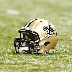 November 25, 2012; New Orleans, LA, USA; A New Orleans Saints helmet on the field prior to a game against the San Francisco 49ers at the Mercedes-Benz Superdome. The 49ers defeated the Saints 31-21. Mandatory Credit: Derick E. Hingle-US PRESSWIRE