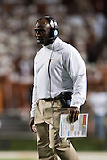 AUSTIN, TX - SEPTEMBER 19:  Texas Longhorns head coach Charlie Strong looks on against the California Golden Bears on September 19, 2015 at Darrell K Royal-Texas Memorial Stadium in Austin, Texas.  (Photo by Cooper Neill/Getty Images) *** Local Caption *** Charlie Strong