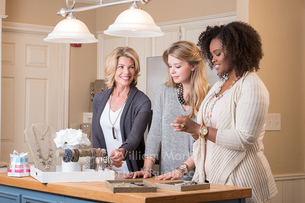 Commercial lifestyle photography featuring agency models for a jewelry designer in Texas.