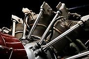 Closeup of engine on N3N.