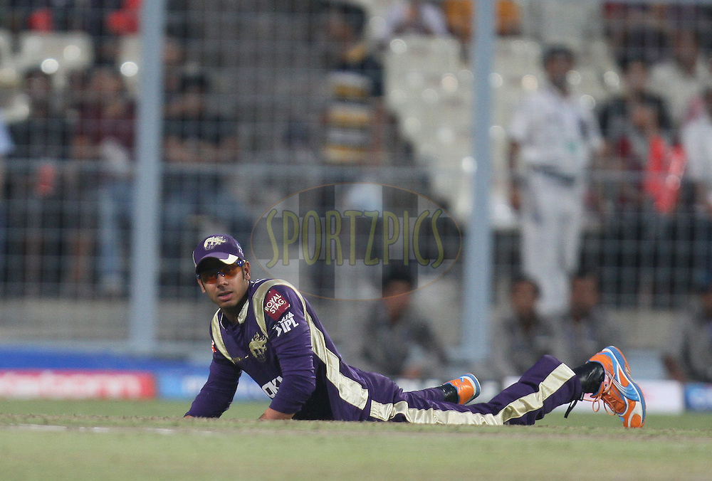 Manoj Tiwary of Kolkata Knight Riders during match 24 of the Indian Premier League ( IPL ) between the Kolkata Knight Riders and the Royal Challengers Bangalore held at Eden Gardens Cricket Stadium in Kolkata, India on the 22nd April 2011..Photo by Parth Sanyal/BCCI/SPORTZPICS