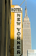 Hotel new Yorker and empire state building NYC 2010