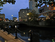 Providence on the River at Night.  Taken from the Cafe Nuovo