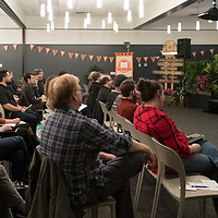 "Storyfort, with Boise State Public Radio, hosts NPR's Lauren Ober, from radio show the ""Big Listen,"" Treefort, photo Patrick Sweeney"