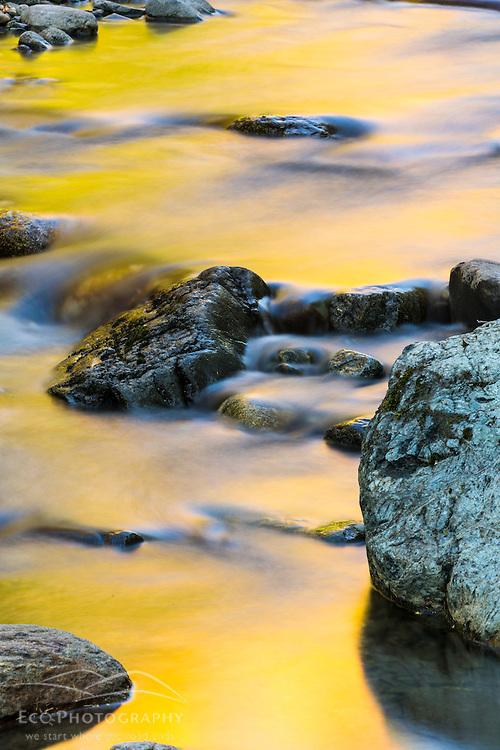 Nash Stream in Reddington Township, Maine. High Peaks Region. Fall.