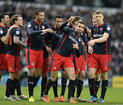 Reading's Hal Robson-Kanu celebrates with team. - Photo mandatory by-line: Alex James/JMP - Mobile: 07966 386802 - 14/02/2015 - SPORT - Football - Derby  - ipro stadium - Derby County v Reading - FA Cup - Fifth Round