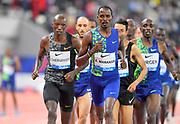 Elijah Manangoi (KEN) wins the 1,500m in 3:32.21 during the IAAF Doha Diamond League 2019 at Khalifa International Stadium, Friday, May 3, 2019, in Doha, Qatar (Jiro Mochizuki/Image of Sport)