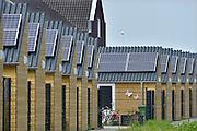 Nederland, Nijmegen, 6-6-2013Nieuwbouwhuizen in de vinex wijk Waalsprong hebben zonnepanelen.Foto: Flip Franssen/Hollandse Hoogte