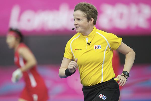 LONDON - Olympische Spelen 2012.women match.KOREA v JAPAN.foto:  Umpire Francis Block.FFU PRESS AGENCY COPYRIGHT FRANK UIJLENBROEK.
