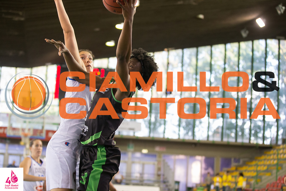 Amber Stokes<br /> OMC Cignoli Broni - Saces Mapei Givova Dike Napoli<br /> LegA Basket Femminile 2016/2017<br /> Lucca, 01/10/2016<br /> Foto Elio Castoria/Ciamillo-Castoria