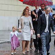 ITA/Parma/20120929- Doop prinses Luisa Irene, prinses Margarita en partner Tjalling ten Cate met kinderen Julia Carolina Catharina (03-09-08), Paola Cecilia Laurentien(25-02-11)