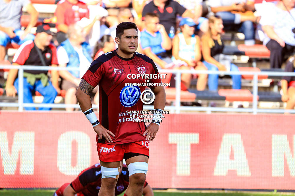 Raphael Lakafia of Toulon during the pre-season match between Rc Toulon and Clermont Auvergne at Felix Mayol Stadium on August 11, 2017 in Toulon, France. (Photo by Guillaume Ruoppolo/Icon Sport)