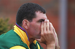 South Africa captain Hansie Cronje stifles a yawn