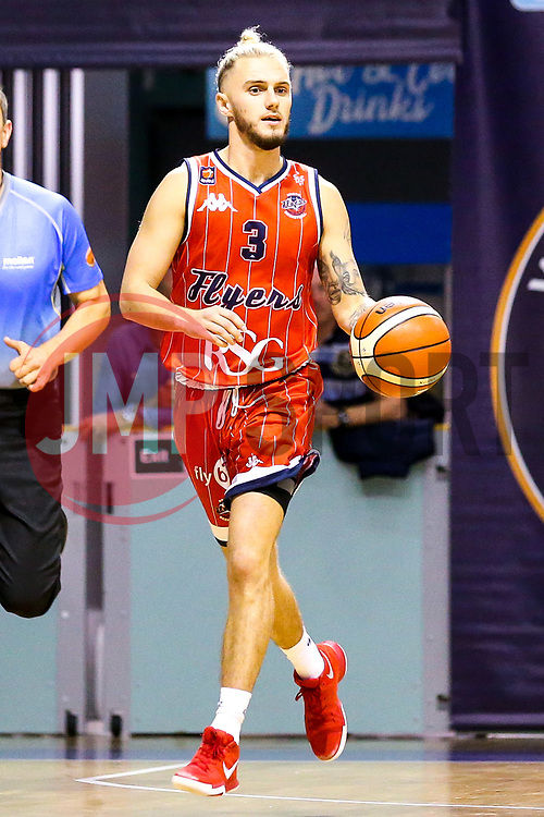 Jordan Nicholls of Bristol Flyers - Mandatory by-line: Robbie Stephenson/JMP - 05/10/2018 - BASKETBALL - University of Worcester Arena - Worcester, England - Bristol Flyers v Worcester Wolves - British Basketball League