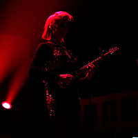 "Anne Erin ""Annie"" Clark of the band St. Vincent performs in concert at the Amway Arena on Wednesday, December 17, 2014 in Orlando, Florida. (AP Photo/ Alex Menendez)"