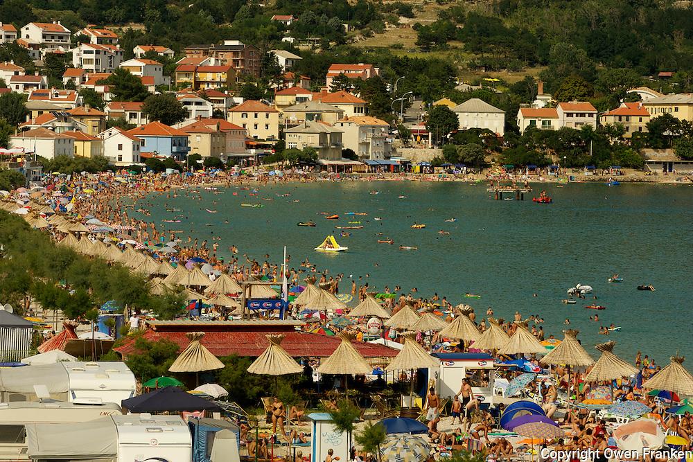 Krk island, Baska, Croatia<br /> &quot;Vela Plaza&quot;, the Great Beach