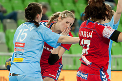 Ferfolja Teja of Slovenia during handball match between Women National Teams of Slovenia and Czech Republic of 4th Round of EURO 2012 Qualifications, on March 25, 2012, in Arena Stozice, Ljubljana, Slovenia. (Photo by Urban Urbanc / Sportida.com)
