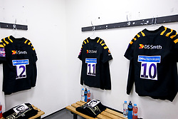 Wasps dressing room at Sale Sharks - Mandatory by-line: Robbie Stephenson/JMP - 05/10/2019 - RUGBY - AJ Bell Stadium - Manchester, England - Sale Sharks v Wasps - Premiership Rugby Cup