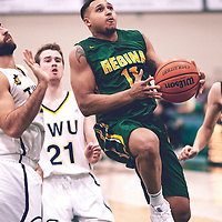 4th year guard, Myles Hamilton (11) of the Regina Cougars during the Men's Basketball Home Game on Sat Nov 03 at Centre for Kinesiology,Health and Sport. Credit: Arthur Ward/Arthur Images