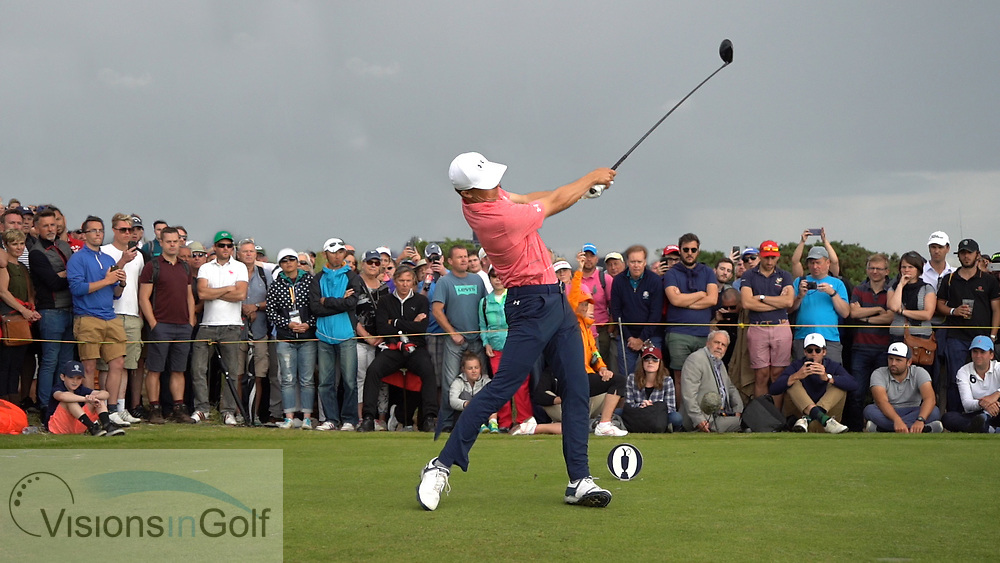 Jordan Spieth<br /> High Speed Swing Sequence<br /> Face On driver<br /> July 2017<br /> Picture Credit: Mark Newcombe/visionsingolf.com