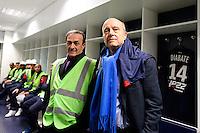 Jean Louis Triaud / Alain Juppe - 23.03.2015 - Visite du Stade de Bordeaux -<br /> Photo : Caroline Blumberg / Icon Sport *** Local Caption ***