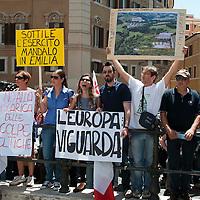 Manifestazione contro le discarica di Pian Dell'Olmo