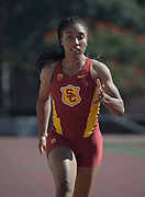 Nov 2, 2017; Los Angeles, CA, USA; Southern California Trojans sprinter Zaria Francis during workout at Cromwell Field.
