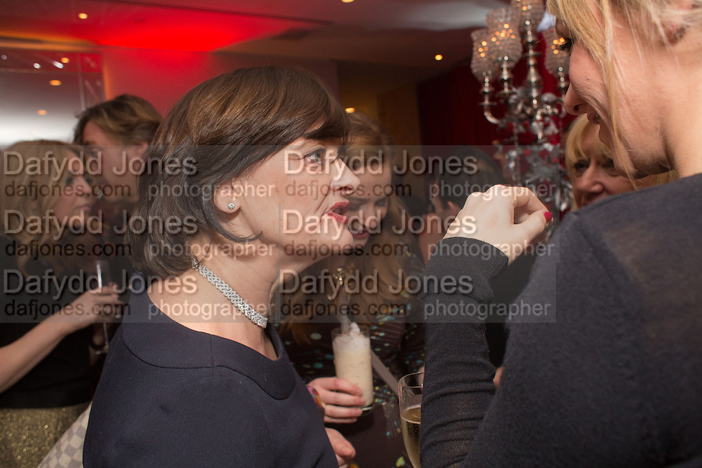 CHERIE BLAIR, Pre -drinks at the St. Martin's Lane Hotel before a performance of the English National Ballet's Nutcracker: London Coliseum.12 December 2013
