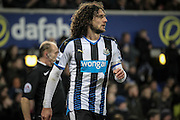 Fabricio Coloccini (Newcastle United) during the Barclays Premier League match between Everton and Newcastle United at Goodison Park, Liverpool, England on 3 February 2016. Photo by Mark P Doherty.