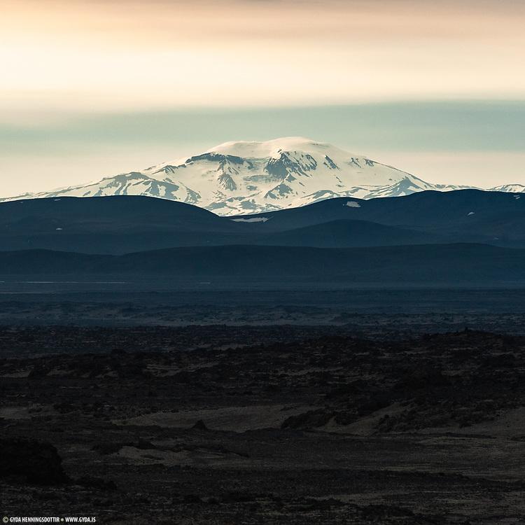 Mountain near Herdubreid Northeast-Iceland highland