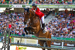 Pablo Barrios, (VEN), Antares, World Champions, - Second Round Team Competition - Alltech FEI World Equestrian Games™ 2014 - Normandy, France.<br /> © Hippo Foto Team - Leanjo De Koster<br /> 25/06/14