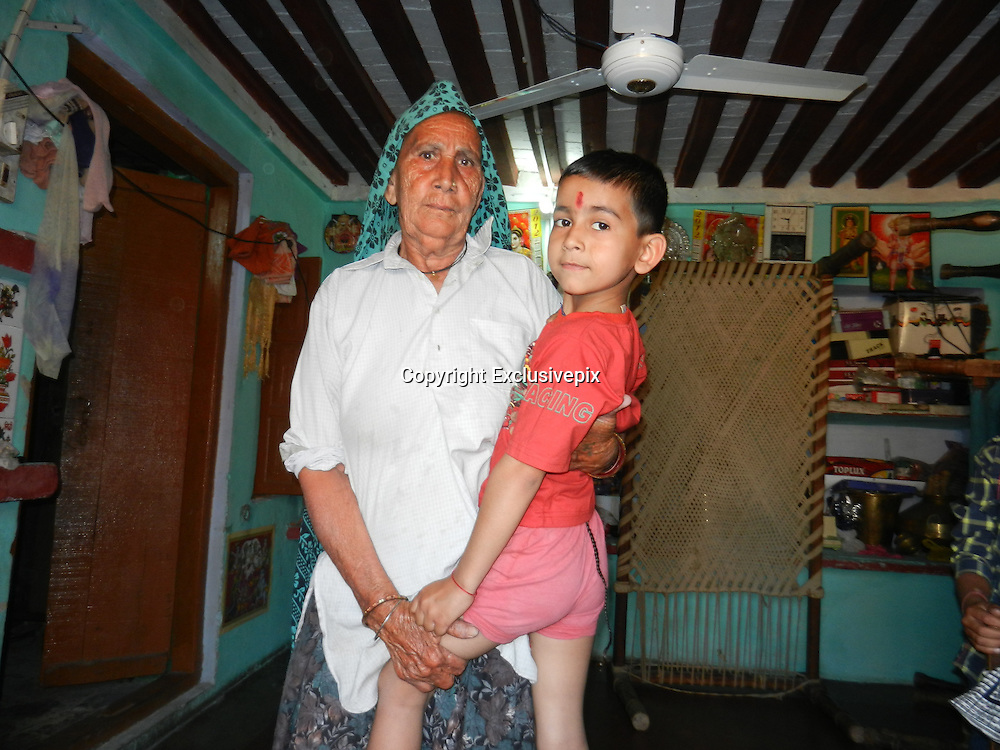 "EXCLUSIVE<br /> A boy in India is being worshipped as a god-like figure after growing a ""tail"".<br /> Amar Singh, aged six, has a patch of thick hair on the small of his back, which has grown to more than 12 inches in length to resemble a tail.<br /> He is from Nijmapur, a small village in the state of Uttar Pradesh in northern India.<br /> The family and locals believe that this is some kind of sign that he is connected to the Hindu god Hanuman, a monkey-like deity.<br /> They have also come up with the theory that his condition means that he bears some similarity to a cow, an animal which is considered holy in Hindu culture. This view has been reinforced by the fact that Amar enjoys spending his time playing with cows in the village.<br /> The family say that he was born with the anomalous patch of hair, which was about one inch in length, and then grew over the years. They say that he is healthy and otherwise a normal boy who does well in his studies at school.<br /> ""Amar is very loving child,"" says Amar's father, Ajmer Singh. ""Everybody see him a symbol of god.""<br /> He explains that although the hairs could be easily cut, they do not want to so because they consider them to be a ""gift from god"".<br /> Amar is the youngest in the family, with four sisters and one brother.<br /> ©Exclusivepix"