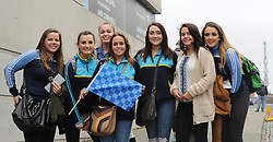 Westport girls show their support for the team at Croke park.<br />