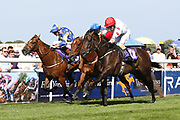 durMUSHARRIF (12) ridden by Ger O'Neill and trained by Declan Carroll winning The Constant Security Handicap Stakes over 5f (£9,400)  ing the Beverley Bullet Day at Beverley Racecourse, Beverley, United Kingdom on 1 September 2018. Picture by Mick Atkins.
