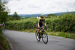 Grace Brown (AUS) battles to the top of Bethlehem Hill on Stage 6 of 2019 OVO Women's Tour, a 125.9 km road race from Carmarthen to Pembrey, United Kingdom on June 15, 2019. Photo by Sean Robinson/velofocus.com
