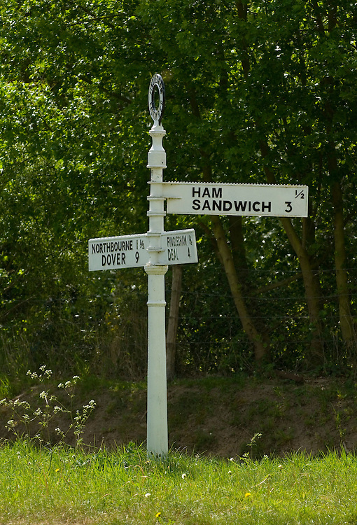 Funny direction sign to Ham and Sandwich, kent, England