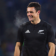 Dan Carter in action during the New Zealand V Fiji Rugby Union test match at Carisbrook, Dunedin. New Zealand. 22nd July 2011. Photo Tim Clayton