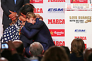 Barcelona- Luis Suarez receives the golden boot on 20th October 2016
