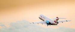 THEMENBILD - Ein Jet der Austrian Airlines am 21. Oktober 2013 am Flughafen Graz Thalerhof // THEMES PICTURE - a jet from the Austrian Airlines on 21 October 2013. EXPA Pictures © 2013, PhotoCredit: EXPA/ Erwin Scheriau
